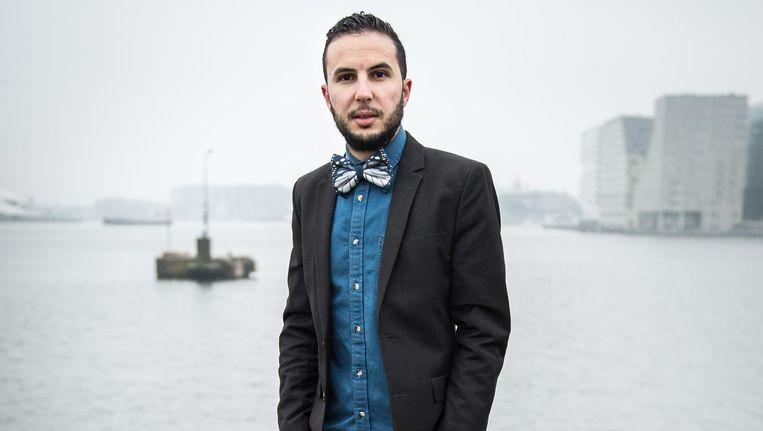 Ilias Zian was in 2014 initiatiefnemer van de eerste Marokkaanse boot tijdens de Canal Parade Beeld Mats van Soolingen