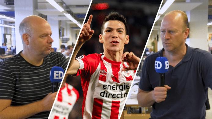 Verslaggever Max van der Put en PSV-watcher Rik Elfrink