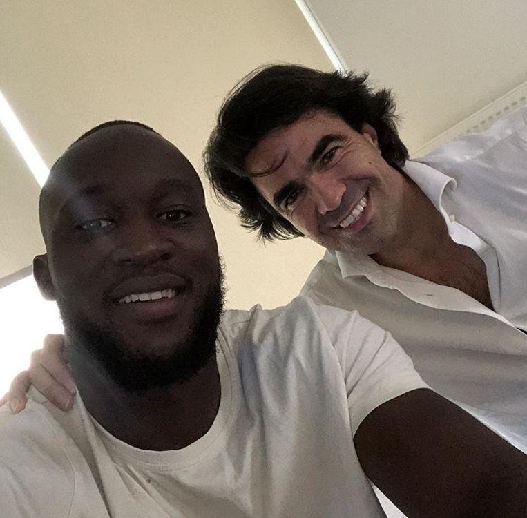 Lukaku met zijn agent