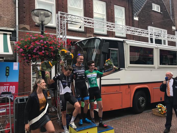 Het podium na de Ronde van Oldenzaal.