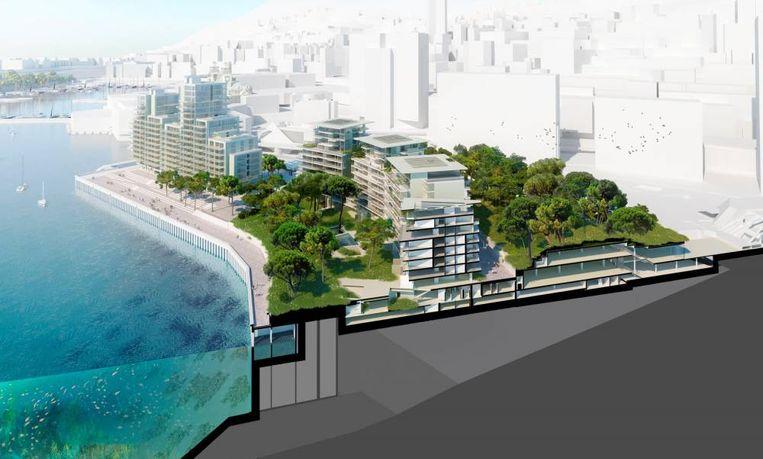 De nieuwe woonwijk van Monaco komt vlak bij het Monte Carlo Casino. Het breidt de dwergstaat uit met 15 hectare.
