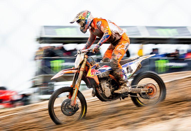 Jeffrey Herlings in actie tijdens de eerste race van de Motocross of Nations in Assen. Beeld Jiri Büller / de Volkskrant
