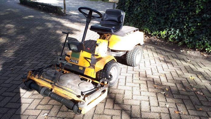 Dit is een van de machines die werd gestolen bij tennisclub Loon op Zand.