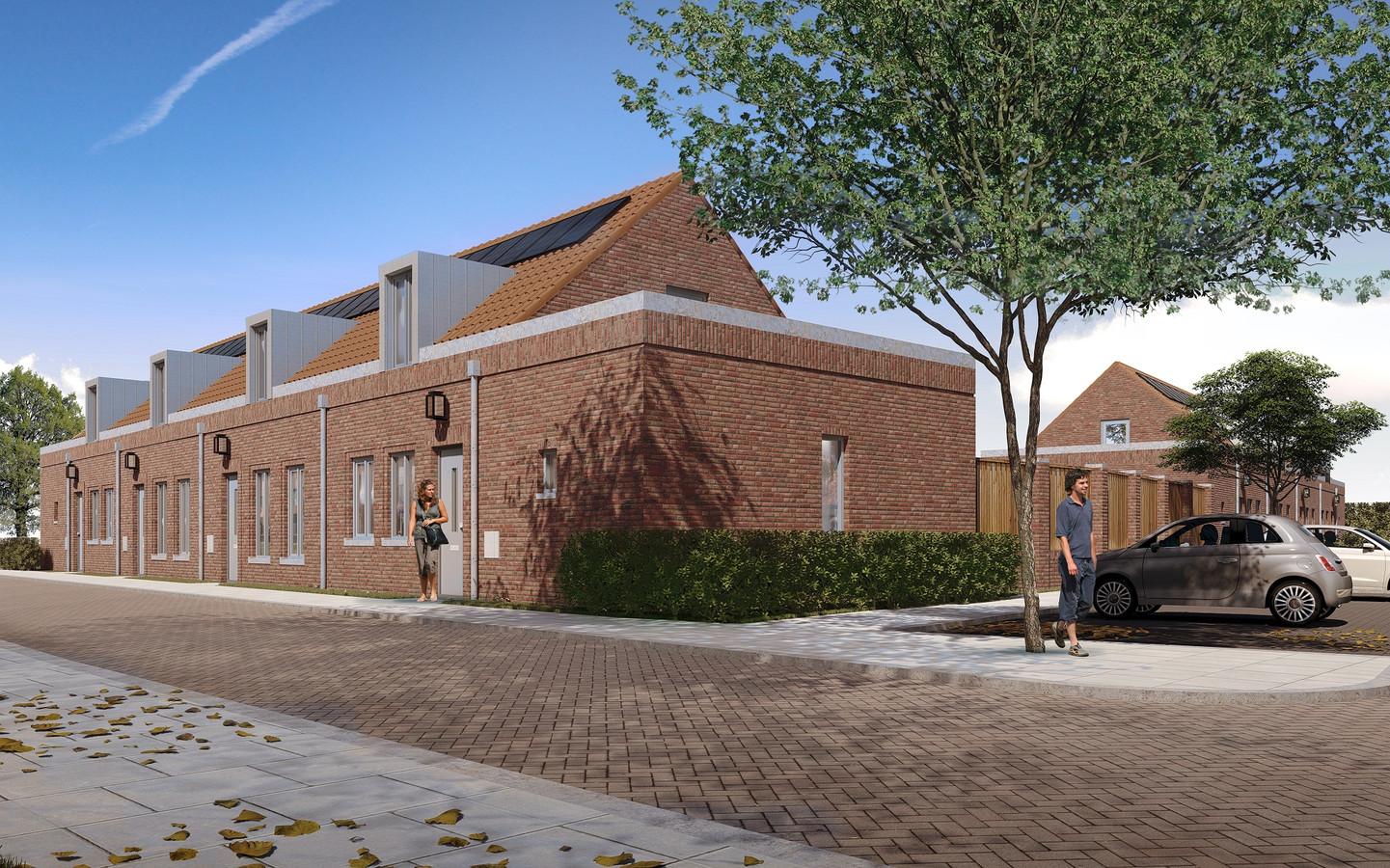 Een impressie van de levensloopbestendige woningen die Zeeuwland laat bouwen in het OranjeDok in Bruinisse.