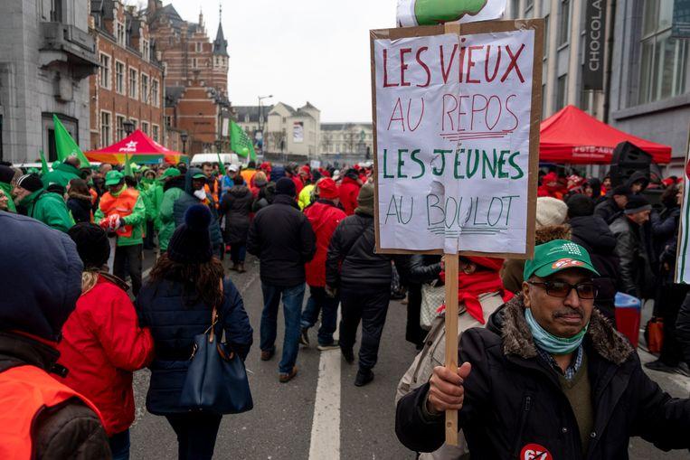 Actie aan het VBO in Brussel
