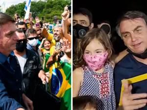 Les bains de foule controversés de Bolsonaro en pleine crise sanitaire au Brésil