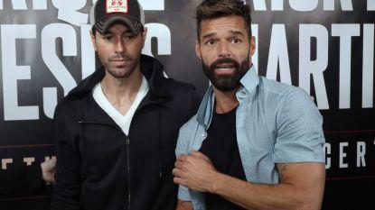 Enrique Iglesias en Ricky Martin samen op tournee