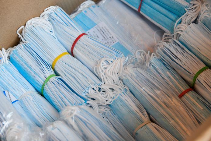 Er komen meer dan 140.000 mondmaskers uit China naar West-Vlaanderen.