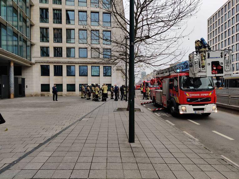 Evacuatie parketgebouw Brussel.