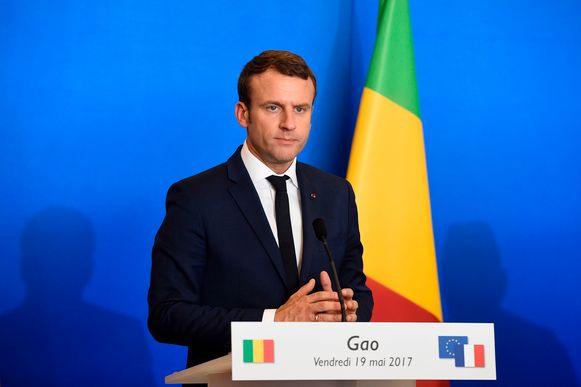Emmanuel Macron is op dit moment in Gao, Mali, op bezoek bij de Franse troepen.