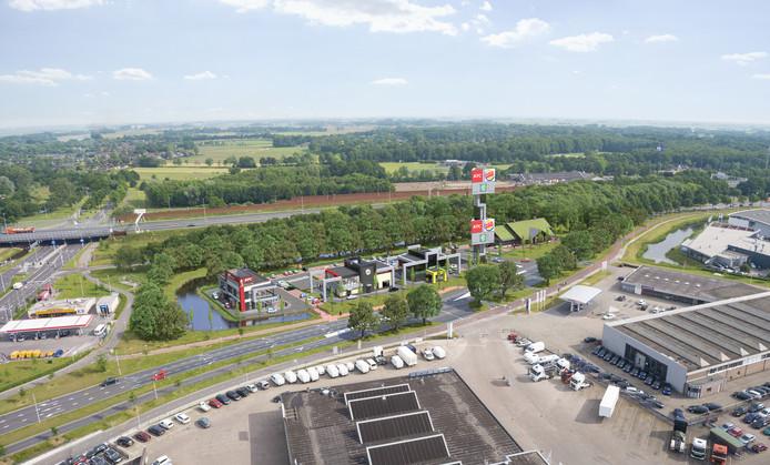 Zo gaat het foodcourt in Zwolle eruit zien. Artist impression Reggestede Invest