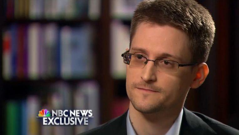 Edward Snowden tijdens een exclusief interview met NBC News woensdag.