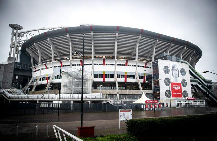 De Johan Cruijff Arena is voor publiek gesloten bij de wedstrijd zaterdag tussen Ajax en RKC Waalwijk.