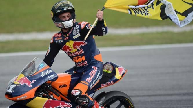 Sandro Cortese (KTM) is wereldkampioen in Moto3