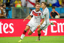 Mario Götze juicht na zijn winnende goal tegen Argentinië in de WK-finale van 2014.