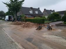 Waterleiding gesprongen in Groesbeek: 80 huishoudens gedupeerd
