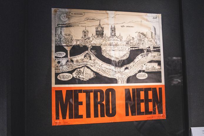 Zwaar protest tegen de plannen om een metro aan te leggen in Gent.