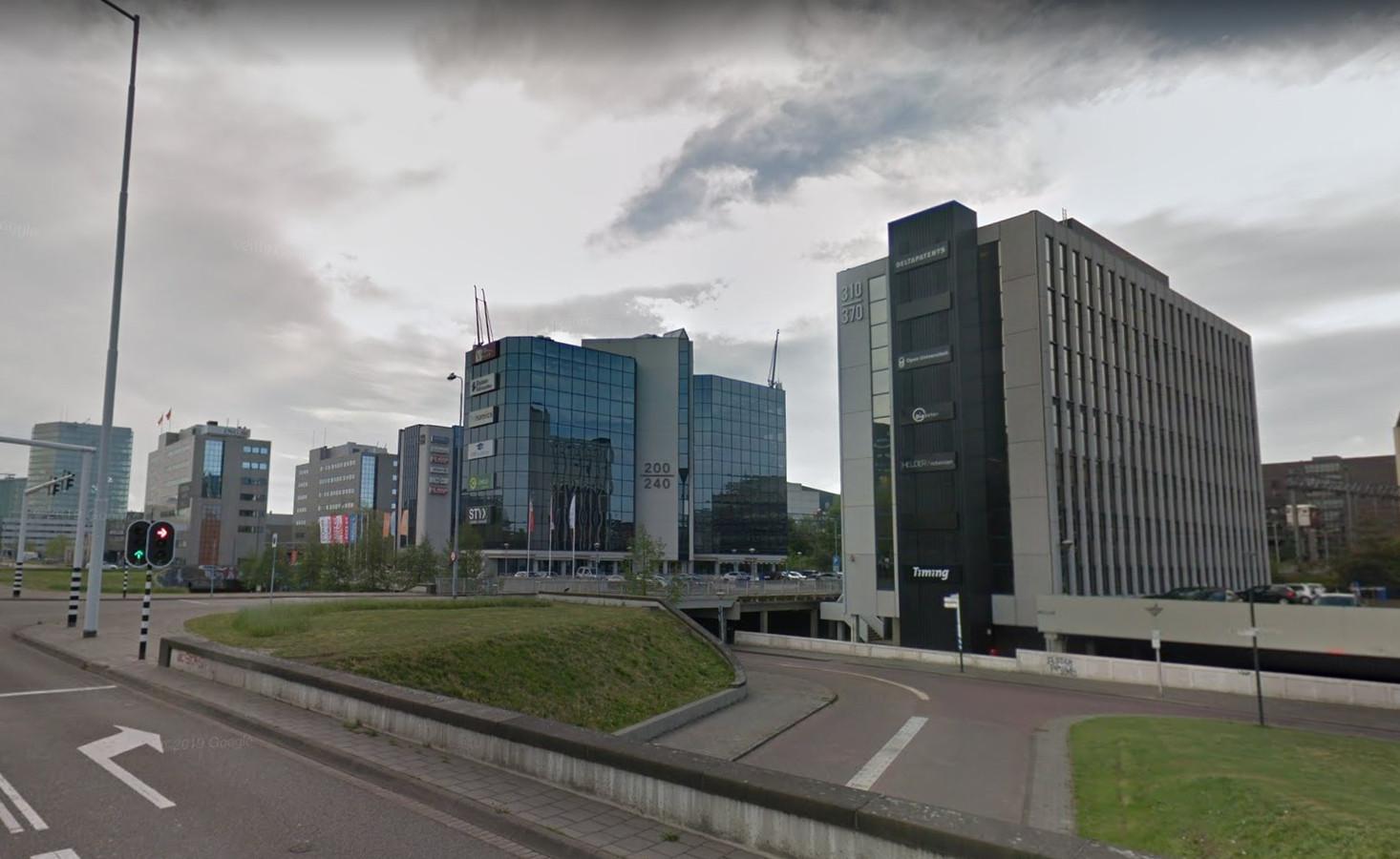 Het kantorengebied aan de noordkant van station Eindhoven Centraal waar in de ogen van het stadsbestuur een congrescentrum moet komen.