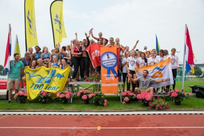 Vrouwenploeg Eindhoven Atletiek derde op NK Teams