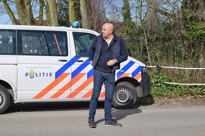 John van de Heuvel aanwezig bij politie inval in Tilburg