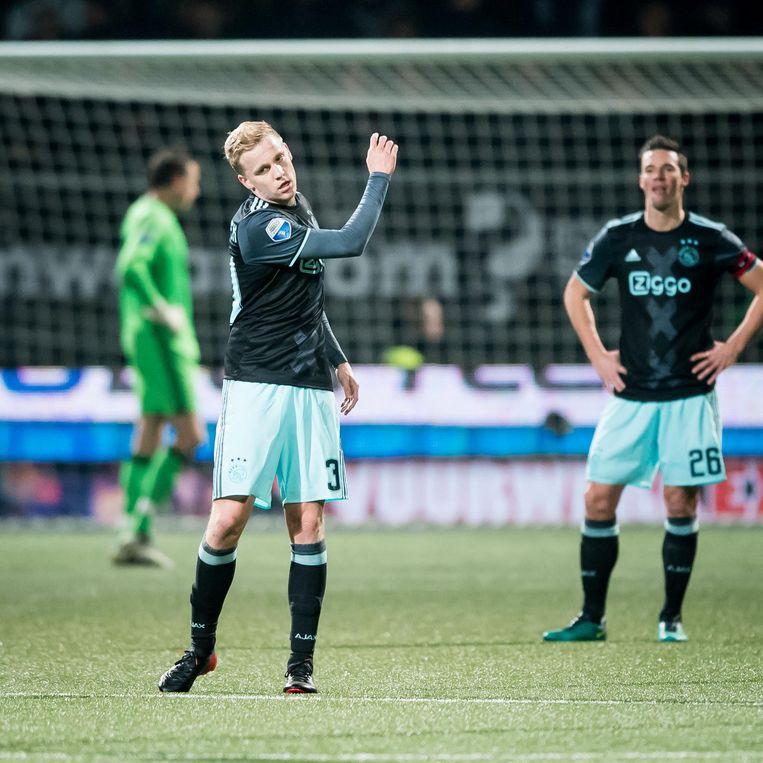 Ajax speler Donny van de Beek baalt na de 2-0. Beeld pro shots