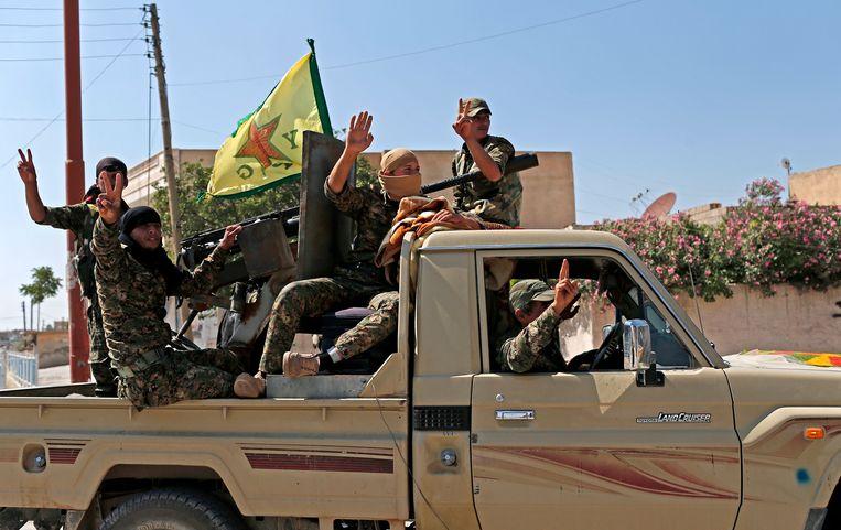Leden van de Koerdische militie YPG.