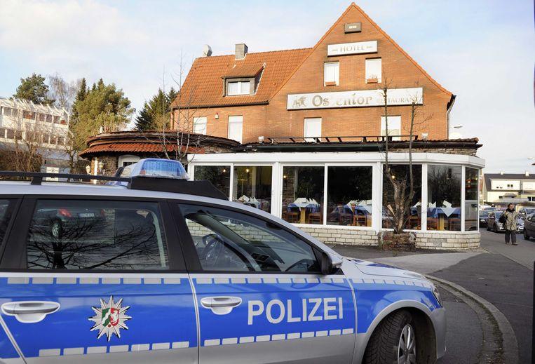 Het hotel in Duitsland waar het voortvluchtige stel zou zijn gearresteerd. Beeld null