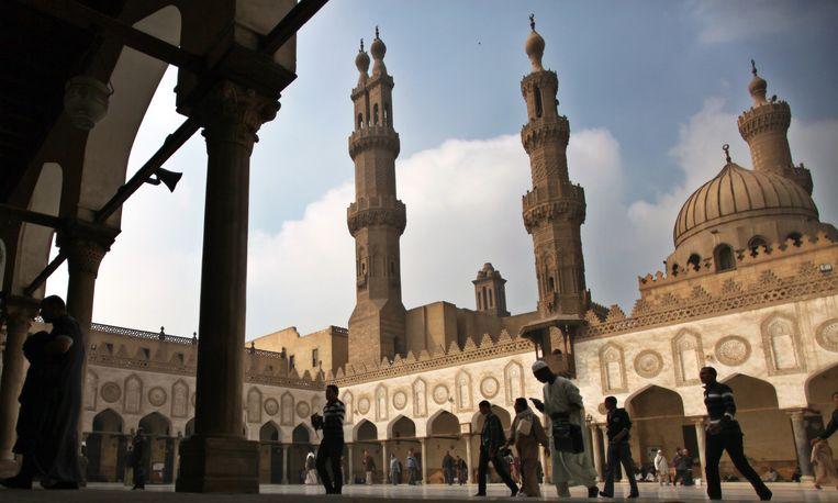 De Al-Azhar moskee in de Egyptische hoofdstad Caïro. Beeld ap
