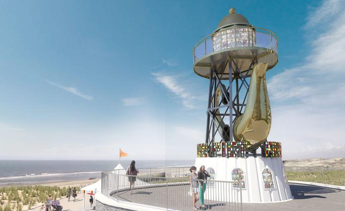 Zo moet de toren er in de toekomst uit gaan zien.