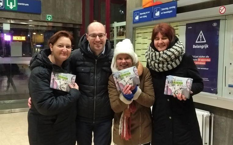 An Vanden Bussche, Filip De Bruyne, Karen Dewinter en Marjan Desmet van Groen Tielt.