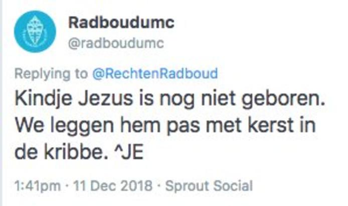 Reactie van het Radboudumc