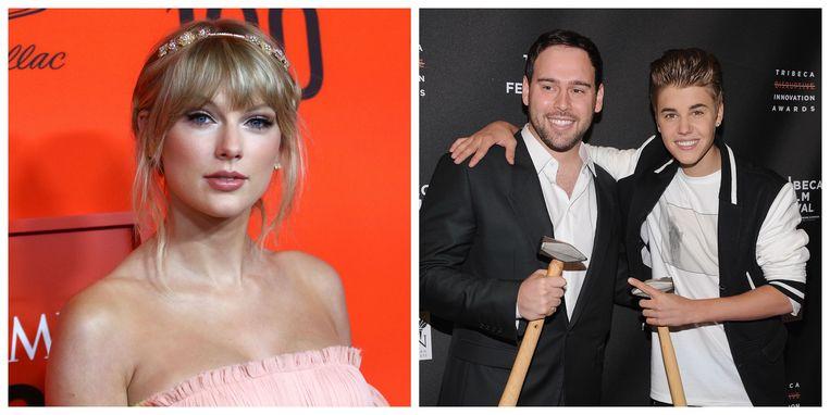 Scooter Braun (rechts) is onder de indruk van het nieuwe album van Taylor Swift.