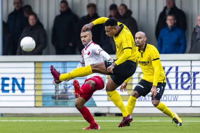 FC Lienden-speler Shuremy Felomina tijdens de wedstrijd Kozakken Boys - Lienden.