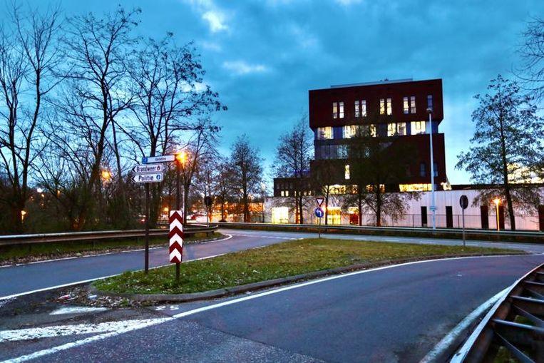 Het kruispunt aan Campus H.