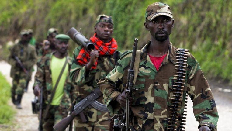 Strijders van de groep M23. Beeld epa