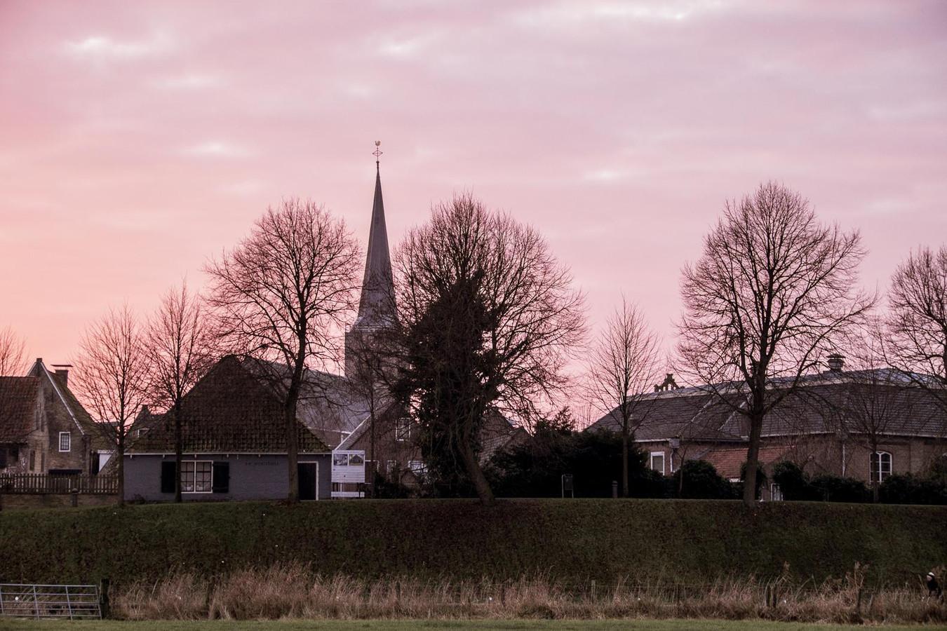 Zonsondergang boven Franeker