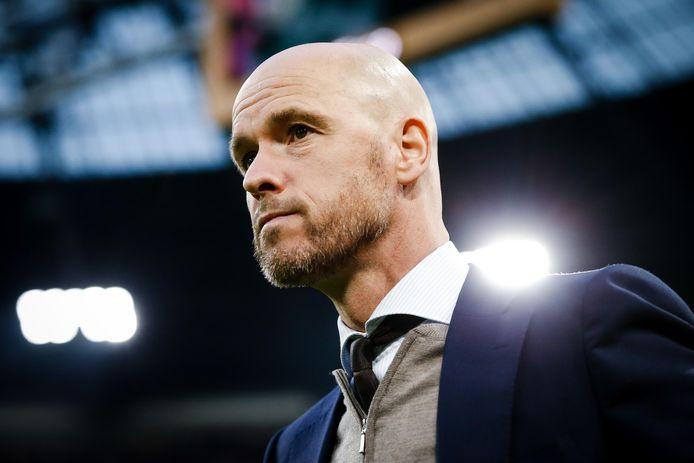 Coach Erik ten Hag van Ajax.