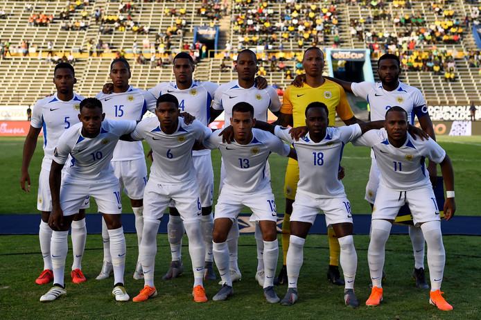 Het elftal van Curaçao.