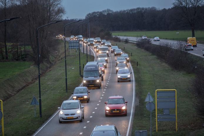 Drukte op A270 tussen Helmond en Eindhoven