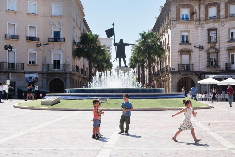 La Plaza de las Monjas in Huelva. Beeld Els Zweerink