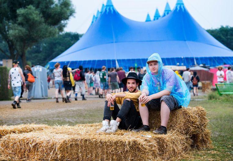 Bezoekers van het festival Down the Rabbit Hole. Beeld null