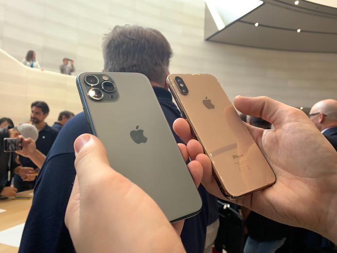 De cameramodule van de iPhone 11 Pro bestaat uit drie lenzen.