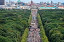 De 'hoofdbetoging' in Berlijn. Er zijn vandaag verschillende acties gepland in de Duitse hoofdstad.