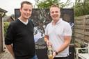Peter Romeijnders (rechts) en Rutger Wolters verkopen hun eigen limoncello.