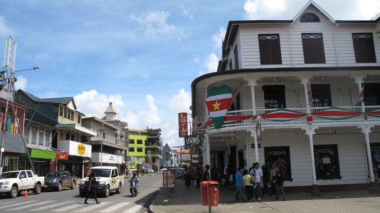 Het centrum van Paramaribo. Beeld Iñaki Oñorbe Genovesi