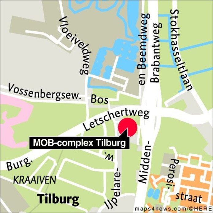 Locatie MOB-complex Tilburg