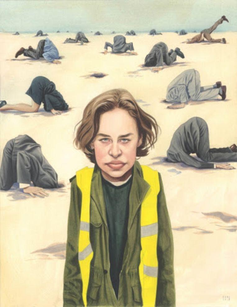 De winnende cartoon met Anuna De Wever