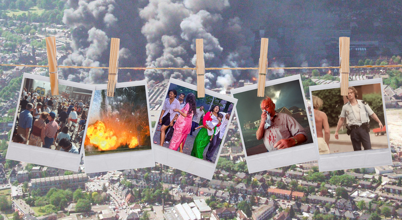 Een terugblik op de rampdag 20 jaar geleden, van minuut tot minuut Beeld Beeldbewerking Internet Tubantia