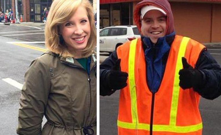 De dodelijke slachtoffers: reporter Alison Parker en cameraman Adam Ward.