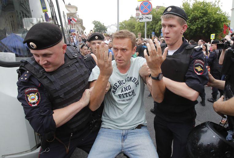 Onder de arrestanten is ook oppositieleider Alexej Navalni.